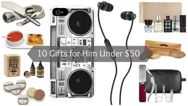 10 Gifts for Him Under $50 on Kirstin Marie