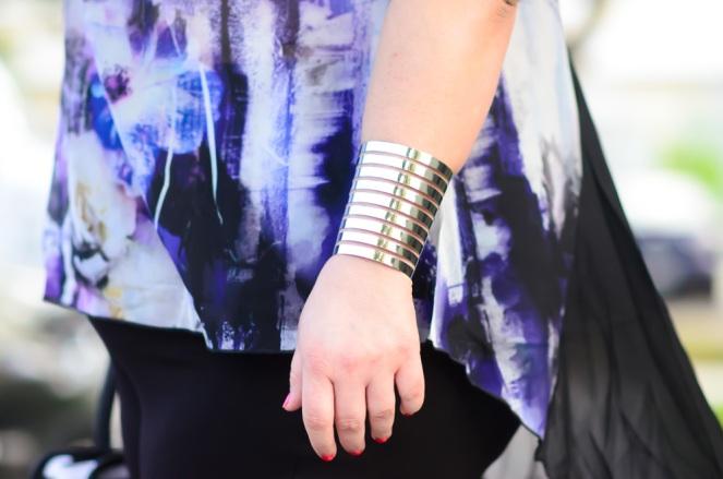 Monroe & Main Silver Bracelet on Kirstin Marie