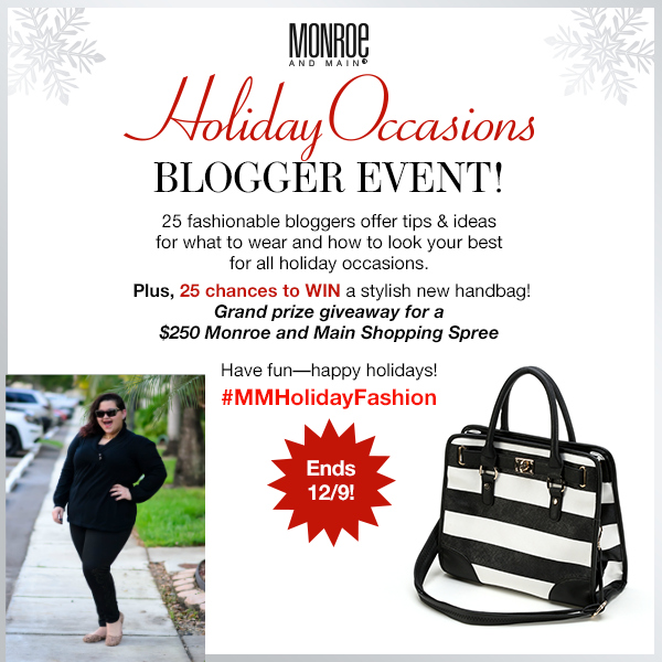 Monroe-and-Main-Holiday-Occasions-Giveaway on Kirstin Marie #MMHolidayFashion