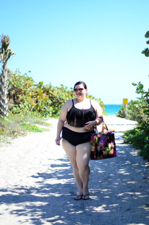 Target plus size bikini on Kirstin Marie