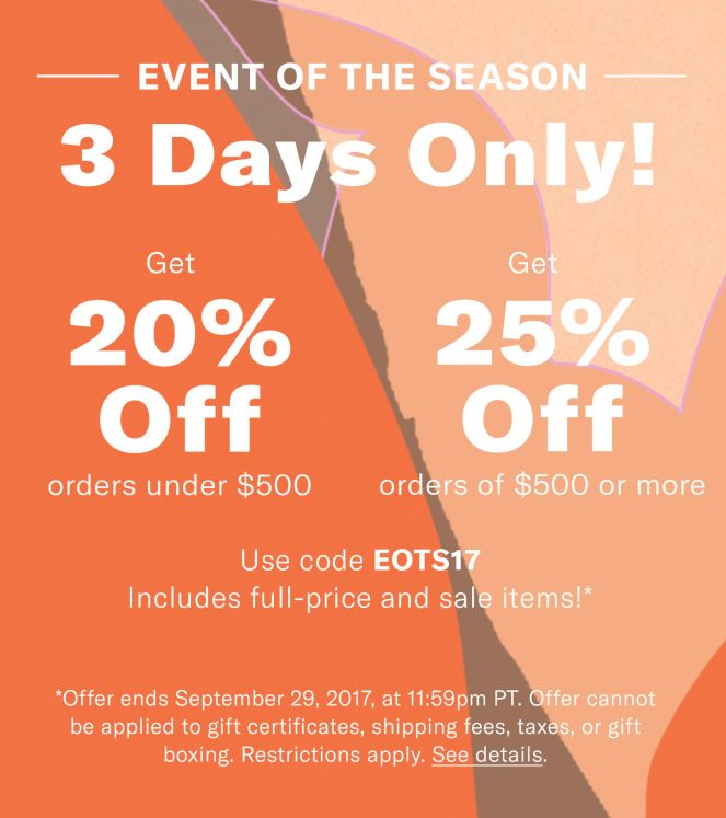 ShopBop Sale September 2017 on Kir Sparkles