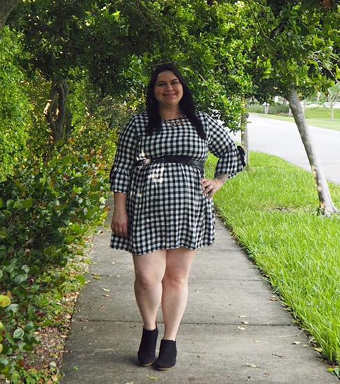 Simply Be Gingham Dress Fall Fashion on Kir Sparkles